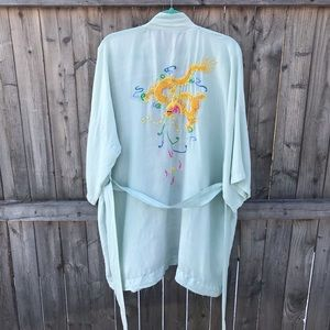 Vintage 100% Silk Hand Embroidered Chinese Robe.